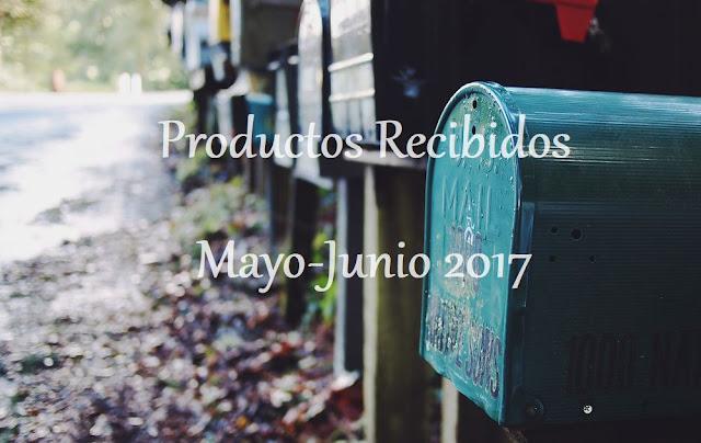 Productos Recibidos Mayo-Junio 2017