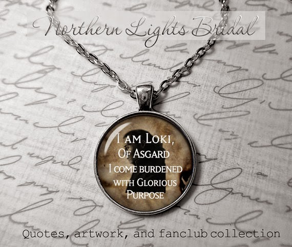 loki quote pendants