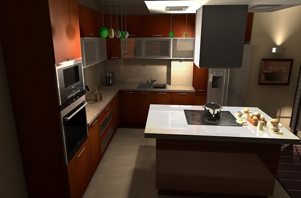 kitchen color cabinets combination