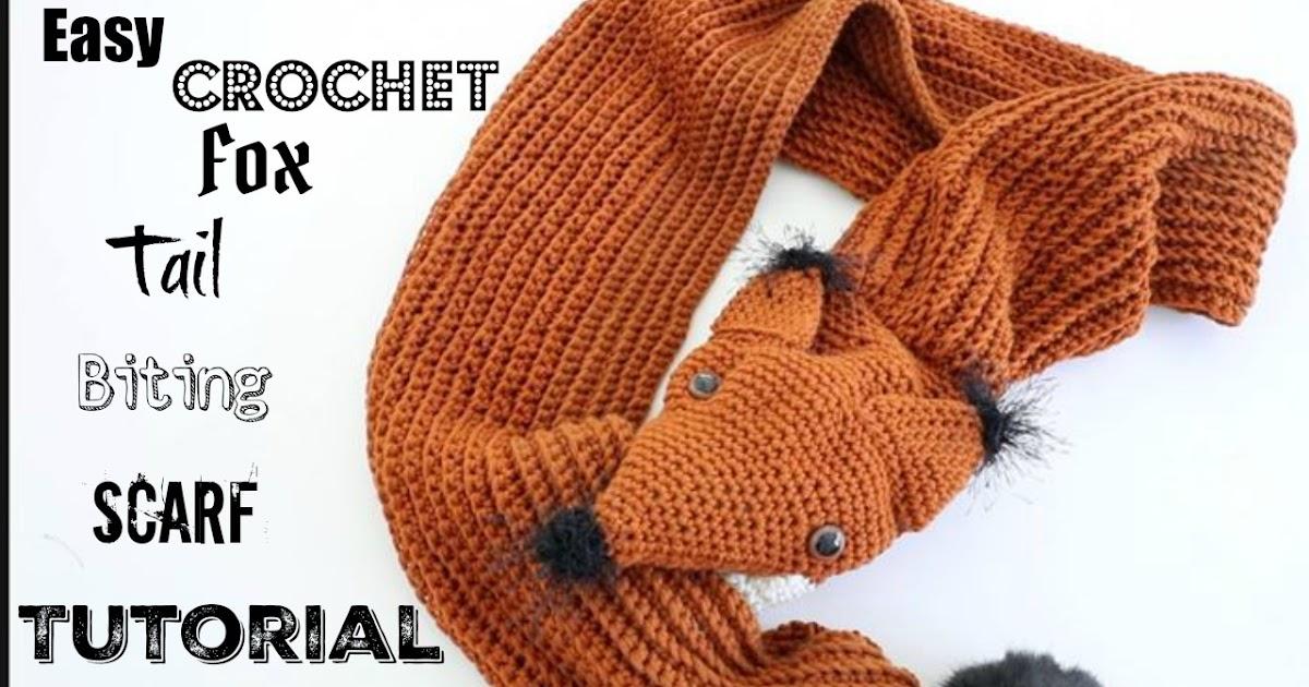 Annoos Crochet World Crochet Tail Biting Fox Scarf
