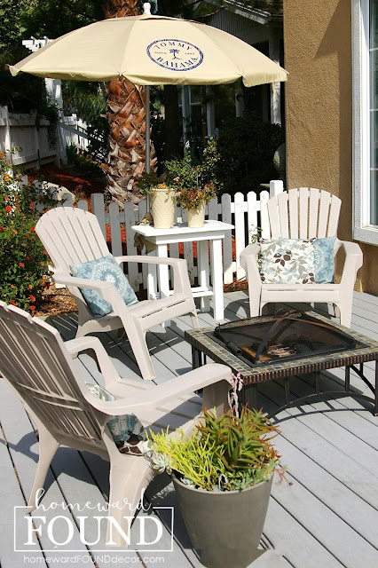 beach style, boho style, coastal style, color, decorating basics, diy decorating, entertaining, fast cheap and easy, furniture, makeover, on the porch, outdoors, room makeovers, summer, weekend makeover, patio decor, patio decor makeover