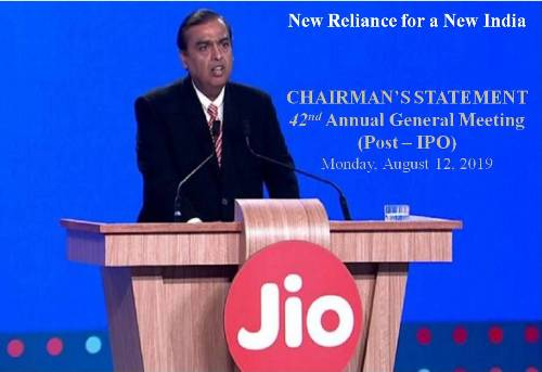 More than 34 crore subscribers of Reliance Jio, Mukesh Ambani said in the annual general meeting of Reliance