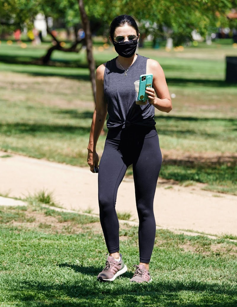 Lucy Hale Clicks at Valley Village Park in Studio City 3 Aug -2020