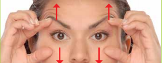 Resistance exercise to strengthen the orbicularis muscle of the eyelids