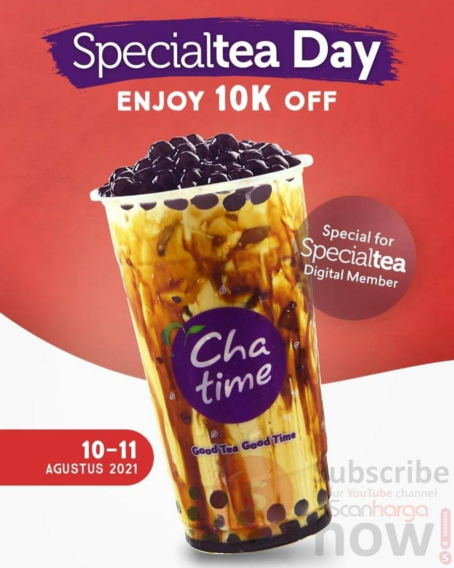 Chatime Promo SpecialTea Day - Enjoy 10K Off*