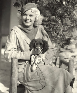 Jean Harlow and Her Dog