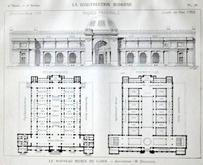 The blue print of the Egyptian Museum's halls