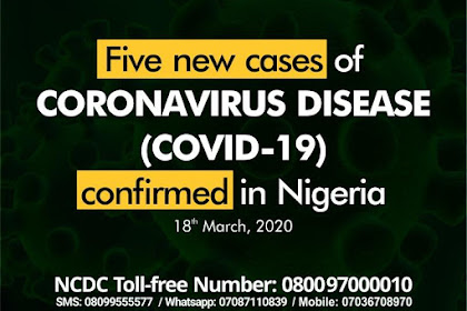 Update : Nigeria Confirms 5 New Cases Of Coronavirus #COVID19