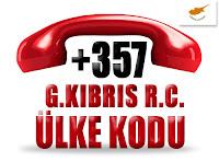 +357 Güney Kıbrıs R.C. ülke telefon kodu