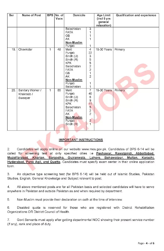 Army MES Jobs August 2020 Apply Online Advertisement No 4