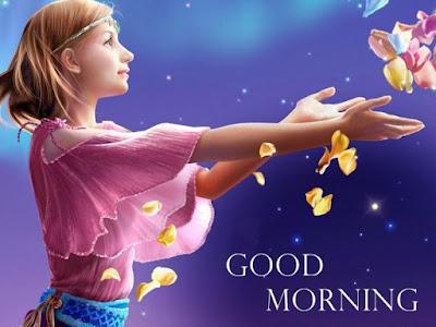 beautiful girl whatsapp good morning image