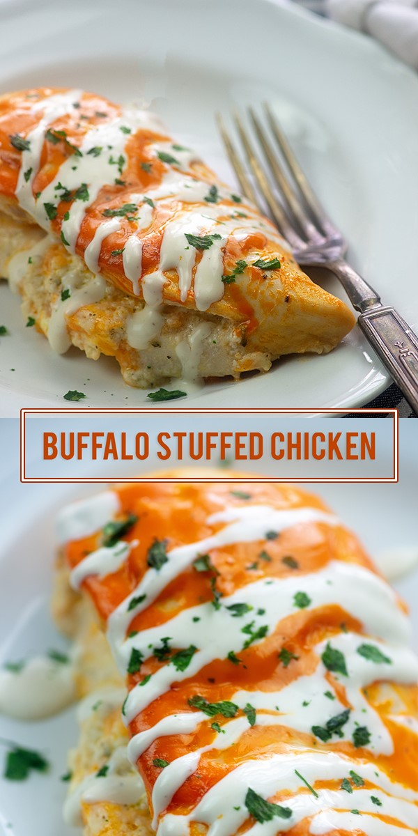 Stuffed Buffalo Chicken #dinnerrecipes