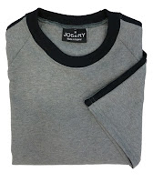 Raglan T-Shirt with sleeve stripe and contrast neck