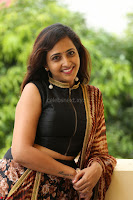 Lasya looks super cute in black choli Saree at Raja Meru Keka Press Meet ~  Exclusive 024.JPG