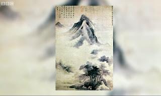 Zen Garden Ink Painting