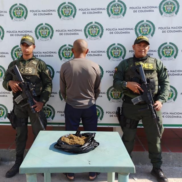 Iba para para la frontera con Venezuela con media libra de marihuana