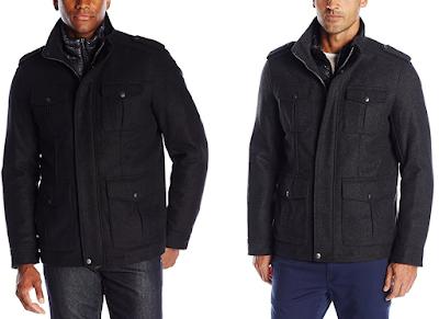 Dockers Wool Blend Military Coat $65 (reg $225)!