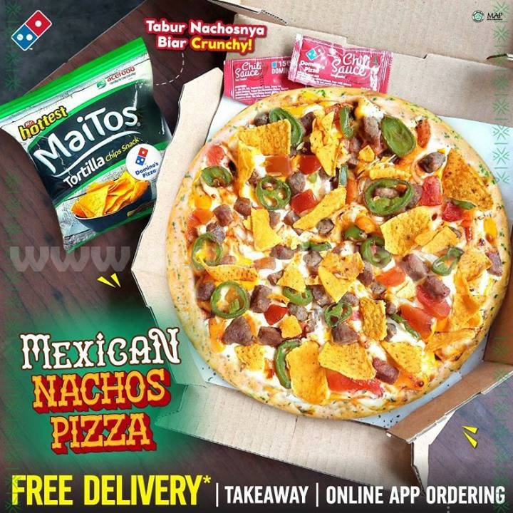 DOMINOS PIZZA Mexican Nachos harga Medium mulai Rp. 78 Ribu-an