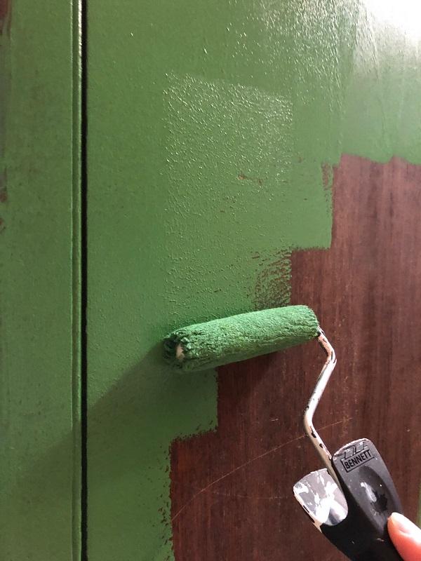 green headboard paint