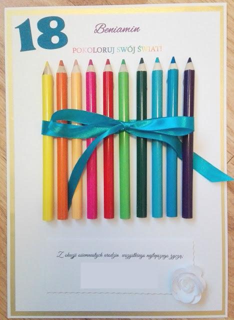 Wyjątkowa, tęczowa kartka na osiemnaste urodziny - pokoloruj swój świat!