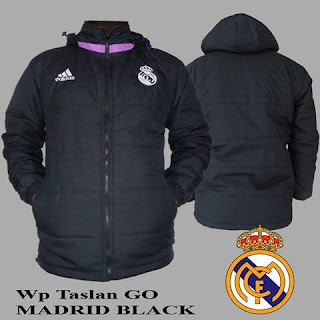 Jaket Waterproof Real Madrid Grade Ori 2016