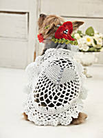 10 Free Crochet Wedding Patterns--How to dress your dog for the wedding