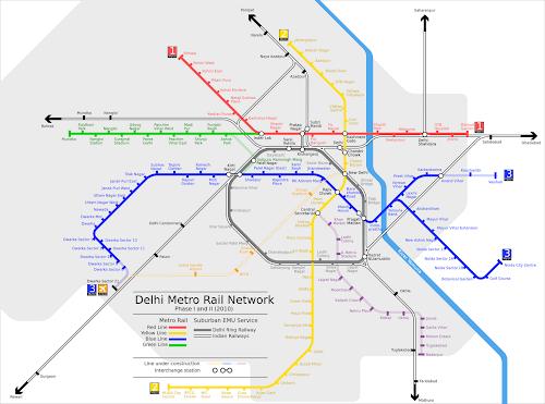 Delhi metro rail network