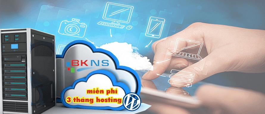 3 Tháng Miễn Phí Hosting WordPress Tại BKNS