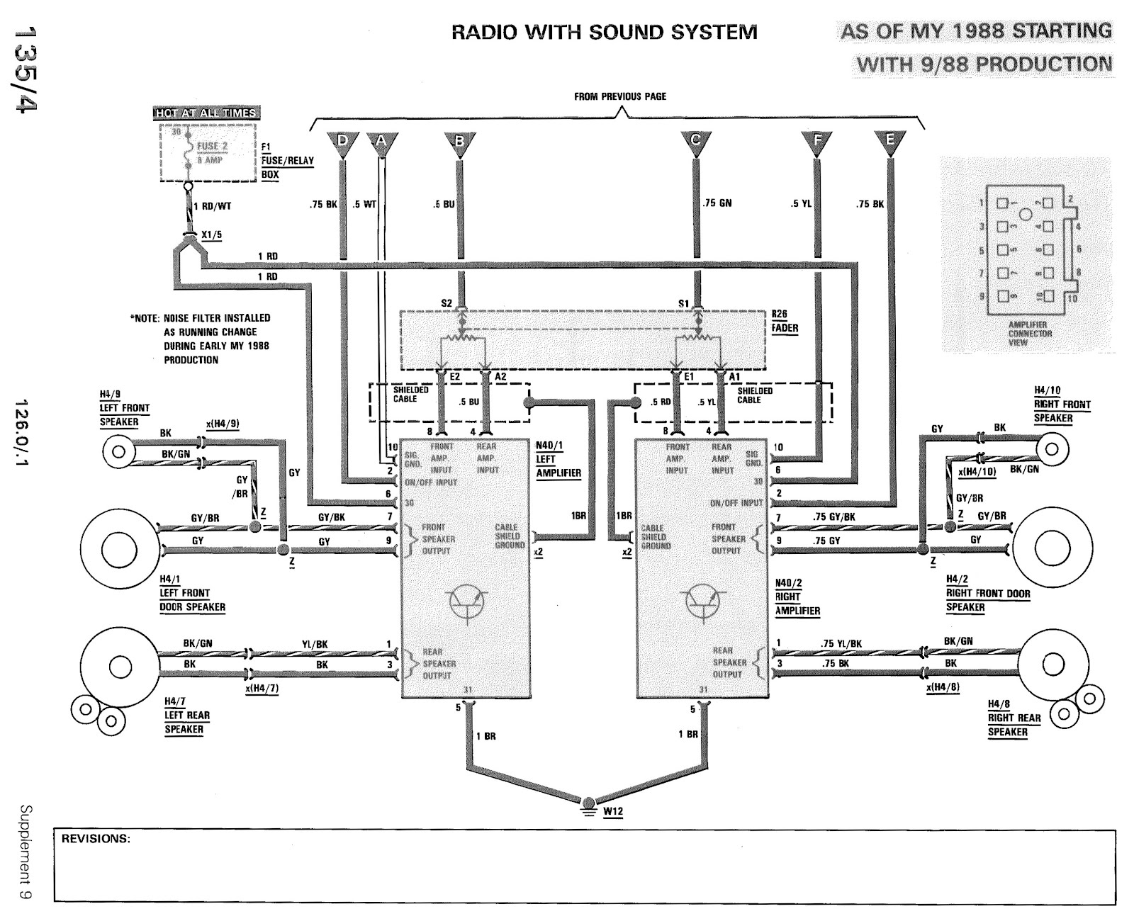 Mercedes Benz Radio Wiring Diagram Mercedes W126 Radio