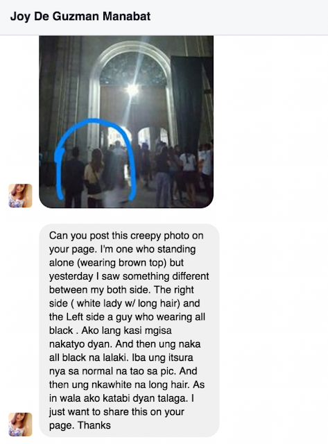 A Very Creepy Photo of a Facebook User Unknowingly Posing in the Middle of Two Ghosts? Terrible!