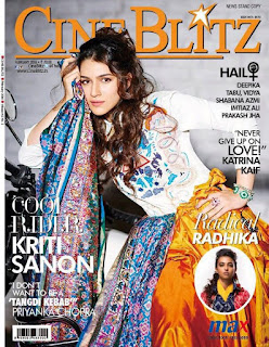 Kriti Sanon exquisite on the Cover Page of CineBlitz magazine March 2016
