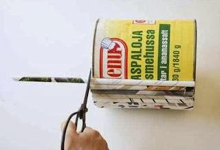 Cara Membuat Kerajinan Tangan Dari Kertas, Pot Bunga Koran Bekas 5