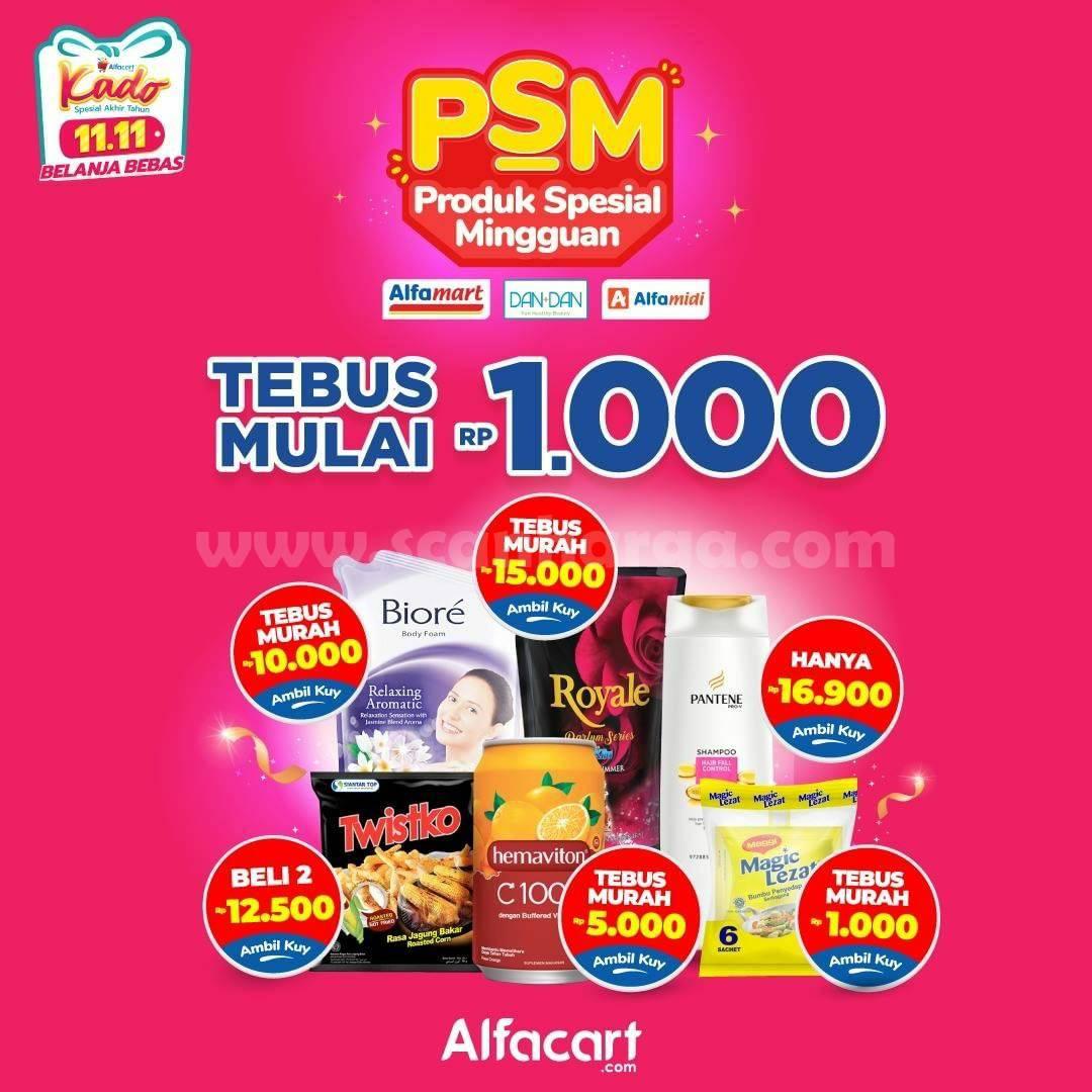 Alfacart Promo PSM Produk Spesial Minnguan Tebus mulai Rp 1.000