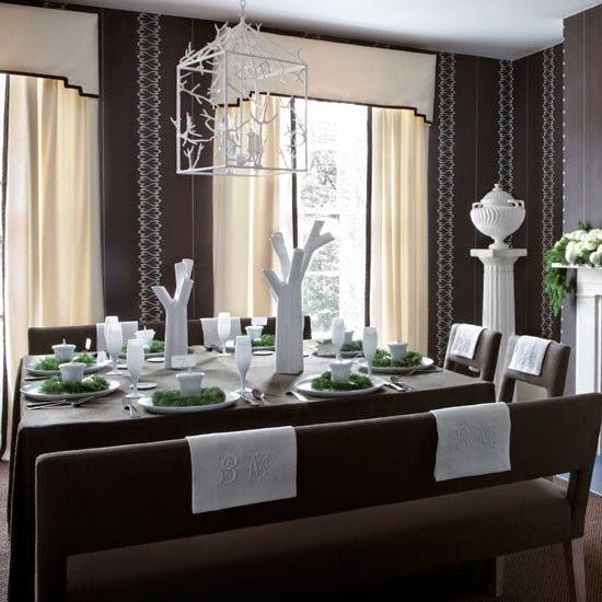 mesa navidad blanco gris