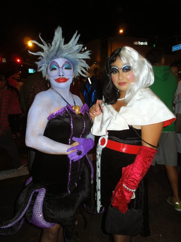 Ursula Cruella Disney Villain costumes West Hollywood Halloween