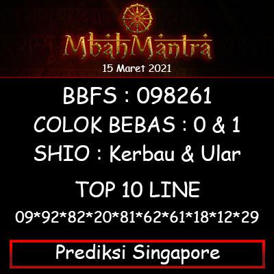 Prediksi Angka Singapore 15 Maret 2021