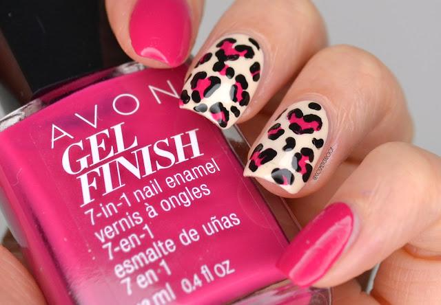 Leopard-Print-Heart-Nail-Art