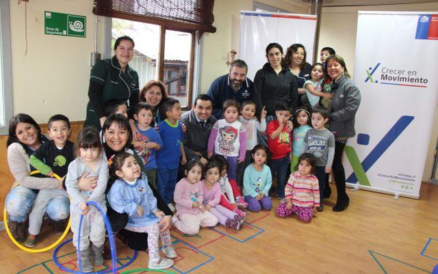 Subsecretario del Deporte visita Jardín Infantil Los Alpinos de Puerto Varas