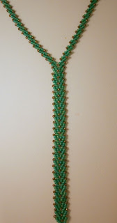 St. Petersburg bead stitch necklace (teal, japanese seed beads) :: All Pretty Things