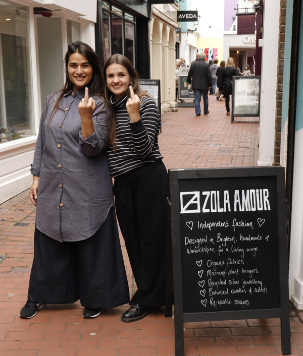 Zola Amour stick their fingers up to fast fashion