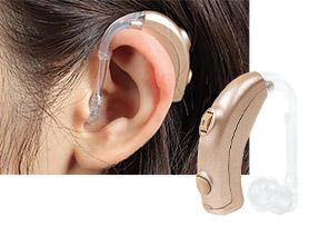 耳かけ型補聴器のイメージ