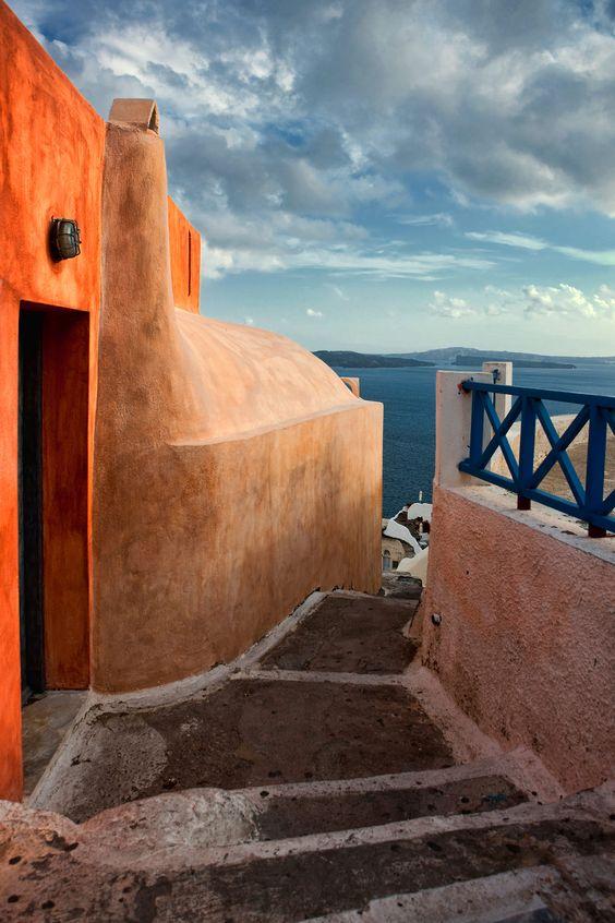 Caldera path, Santorini - Ioanna's Notebook