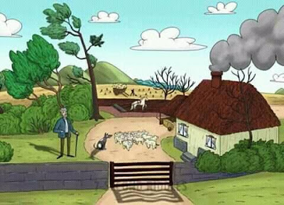 لغز ايجاد الاخطاء في صورة المنزل والحديقة مع الاجابة