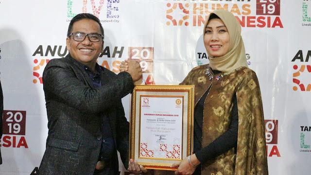 Pemkab Muba Raih Penghargaan Humas Indonesia