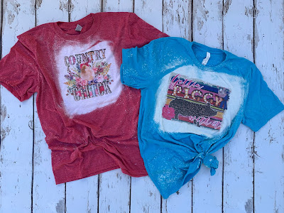 country chicks red bleached tee