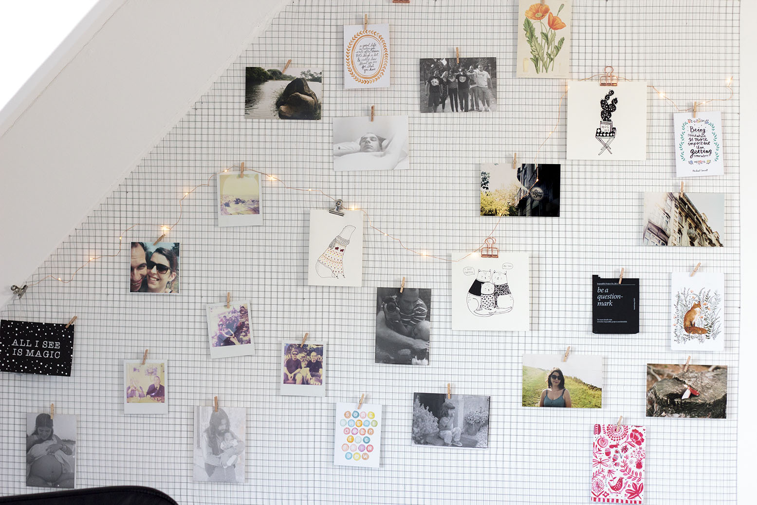 wall wire display diy