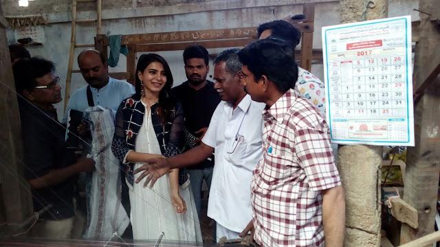 Actress Samantha Visited Dubbaka Handlooms Society