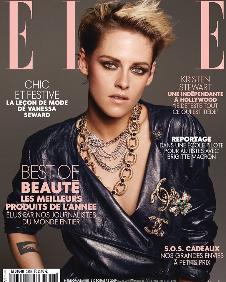 Kristen Stewart is decked in Chanel for Elle France December 2019
