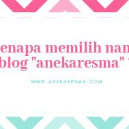 """Day 3: Kenapa Memilih Nama Blog """"Anekaresma"""" ??"""