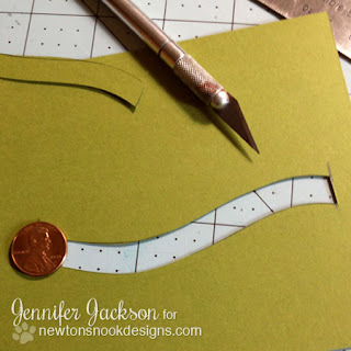 Penny Slider Card tutorial - Newton's Nook Designs - step 3
